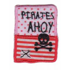 Iron-on patches Button pirates ahoy - 5pcs