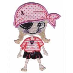 Iron-on patch pirate girl with pants-skirt - 5pcs