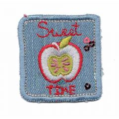 Iron-on patch apple - 5pcs