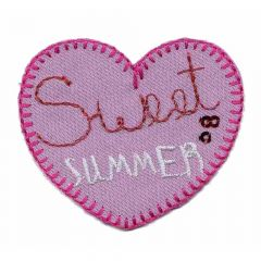 Iron-on patches heart sweet summer - 5pcs