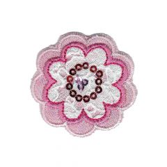 Iron-on patches flower with - 5pcs