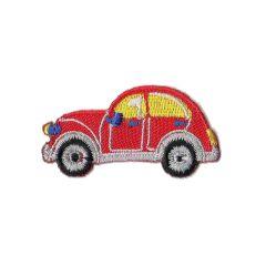 Iron-on patch car beetle - 5pcs