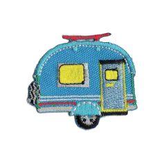 Iron-on patches Caravan blue - 5pcs