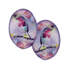 Opry Iron-on knee patches with birds - 5pcs