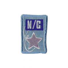 Iron-on patch denim N-C star - 5pcs