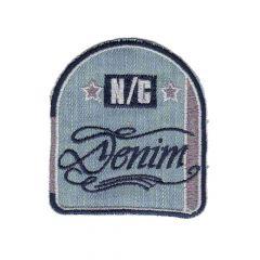 Iron-on patch arms N-C denim - 5pcs