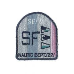 Iron-on patch arms SF with lurex flags - 5pcs