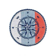 Iron-on patch compass button - 5pcs