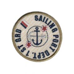 Iron-on patch sailing port button - 5pcs