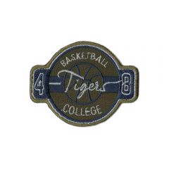 Iron-on patches Basketball college tigers - 5pcs