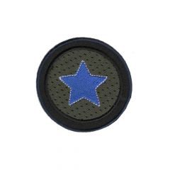 Iron-on patch button with star - 5pcs