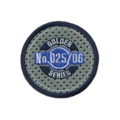 Iron-on patch button golden series - 5pcs