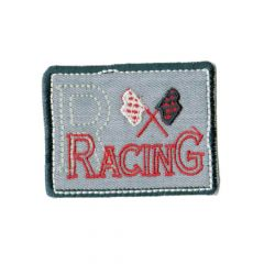 Iron-on patches Racing grey - 5pcs