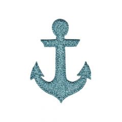 Iron-on patch anchor glitter - 5pcs