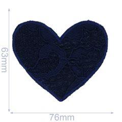 Iron-on patch heart - 5pcs