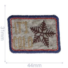 Iron-on patches Its cold - 5pcs