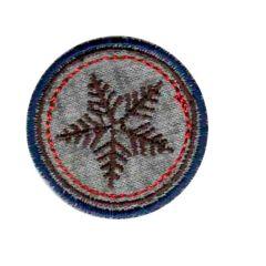 Iron-on patches Snow flake brown - 5pcs