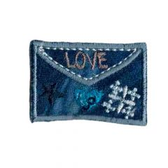 Iron-on patches Envelope love - 5pcs