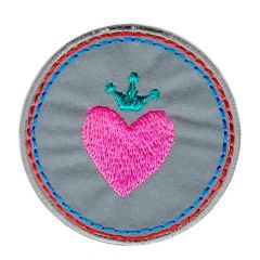 Iron-on patches heart reflective - 5pcs
