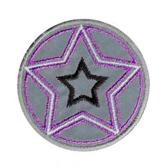 Iron-on patch star reflective - 5pcs