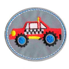 Iron-on patch SUV reflective - 5pcs