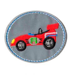 Iron-on patch race car reflective - 5pcs