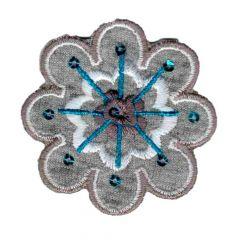 Iron-on patch flower - 5pcs