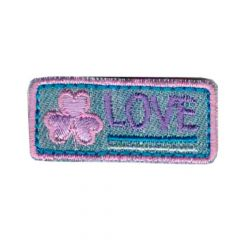 Iron-on patches Love purple-pink - 5pcs
