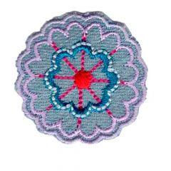 Iron-on patch flower denim - 5pcs
