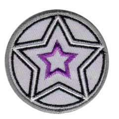 Iron-on patch button with stars - 5pcs