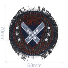 Iron-on patch button New York - 5pcs