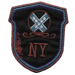 Iron-on patches New York dark blue - 5pcs