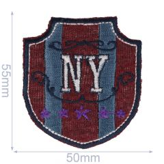 Iron-on patches New York small - 5pcs