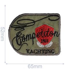 HKM Iron-on patch competition yachting 65x52mm - 5pcs
