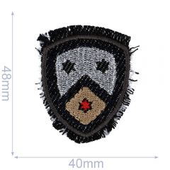 HKM Iron-on patch shield 40x48mm - 5pcs
