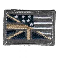 Iron-on patches flag grey - 5pcs