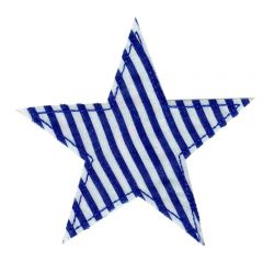 Iron-on patches star blue striped - 5pcs
