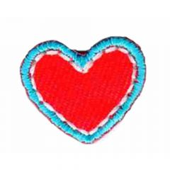 Iron-on patch heart small - 5pcs