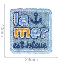 Iron-on patch la mer - 5pcs