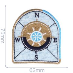 Iron-on patches arms N-E-S-W - 5pcs