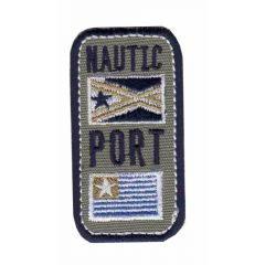 Iron-on patches Nautic Port with 2 flags - 5pcs