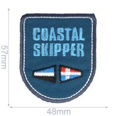 Iron-on patches Coastal Skipper blue - 5pcs