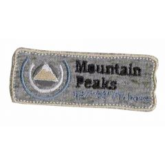 Iron-on patches Mountain Peaks brown - 5pcs