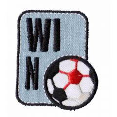 Iron-on patches Win with football - 5pcs