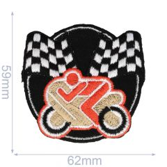 Iron-on patches Motor Orange/red - 5pcs