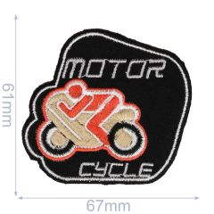 Iron-on patches Motorcycle black/grey - 5pcs