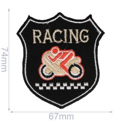 Iron-on patches arms Racing black - 5pcs