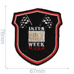 Iron-on patches arms Interbike week black - 5pcs