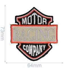 Iron-on patches Motor Racing Company black/grey - 5pcs