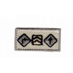 Iron-on patches Beige rectangle small with arrows - 5pcs